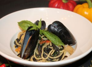 Острые Спагетти с морепродуктами